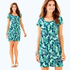 LILLY PULITZER Beacon T Shirt Dress Tidal Wave XXS
